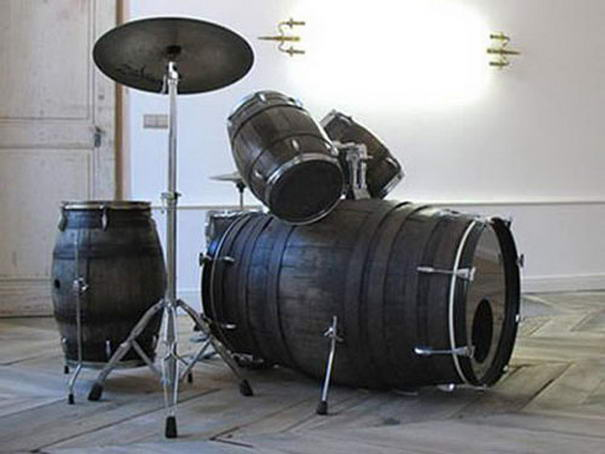 Wine barrels to drum set