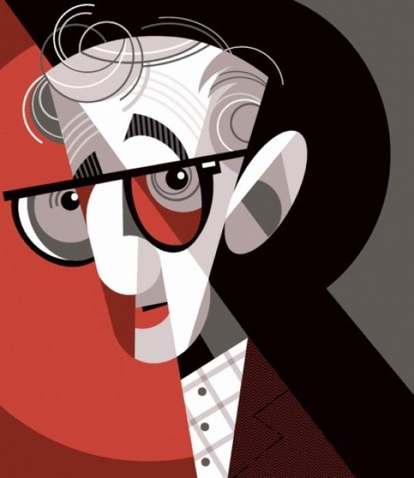 Illustration Portraits Woody Allen
