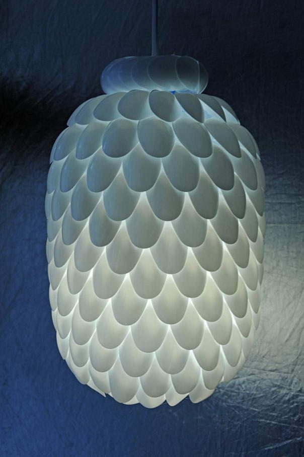 DIY Ideas Spoon Lamp (2)