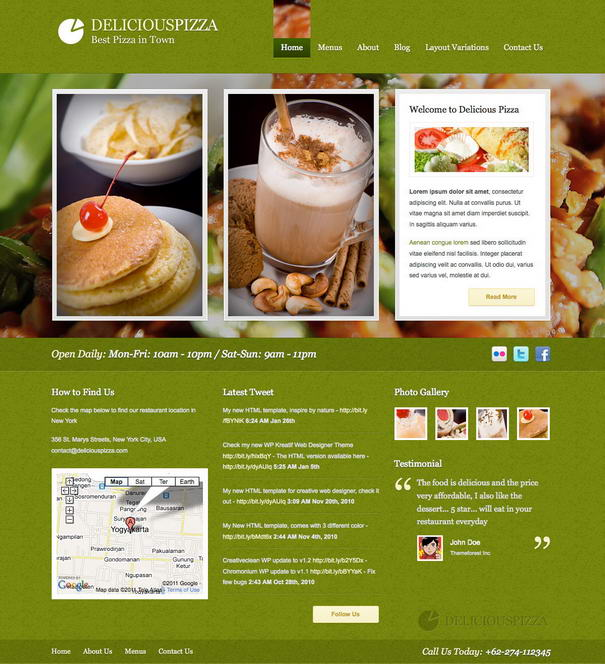 Delicious Restaurant WordPress