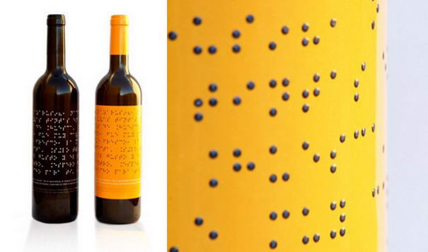 Braille Wine Bottle