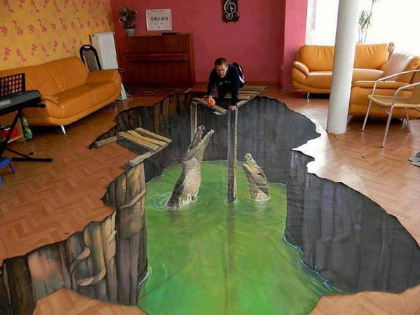 3D artwork flooring