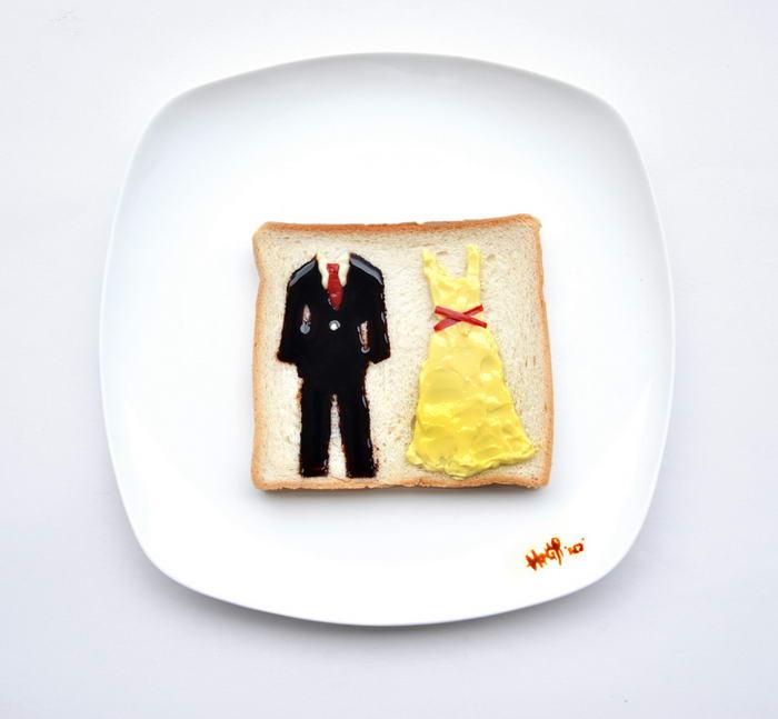 Food Art You re my butter half