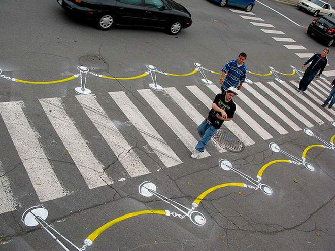 Street Art By Roadsworth (4)