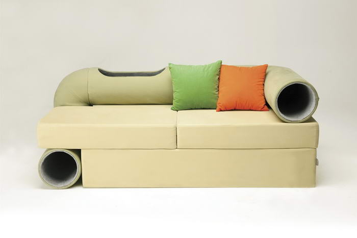 Cat Tunnel Sofa (1)