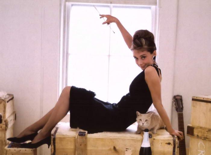 Audrey Hepburn in Black Dress