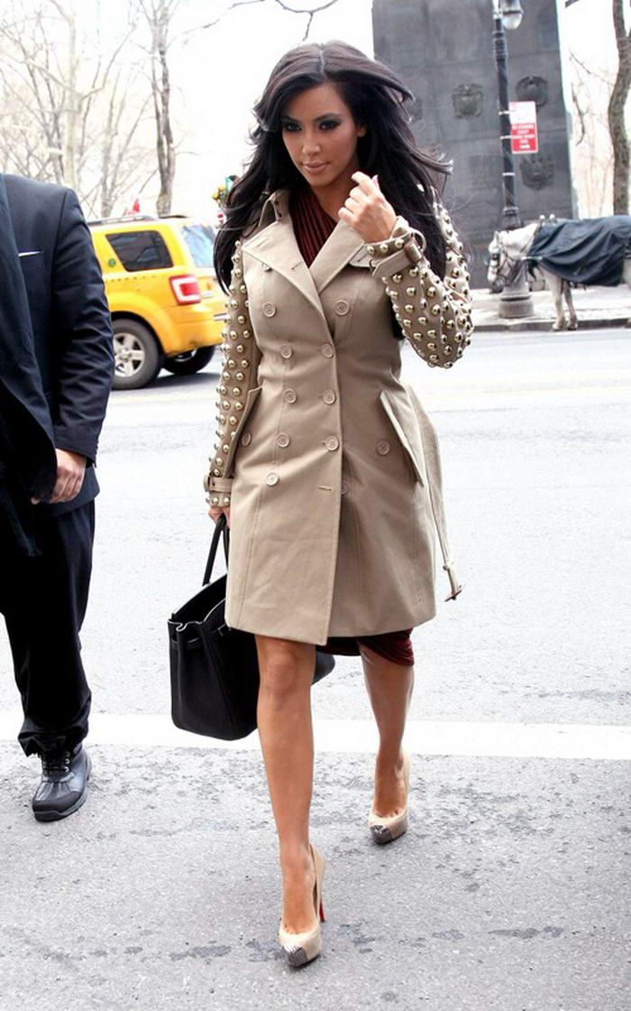 Kim Kardashian in Burberry Trench Coat