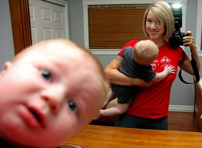 The Baby Photobomb Selfie