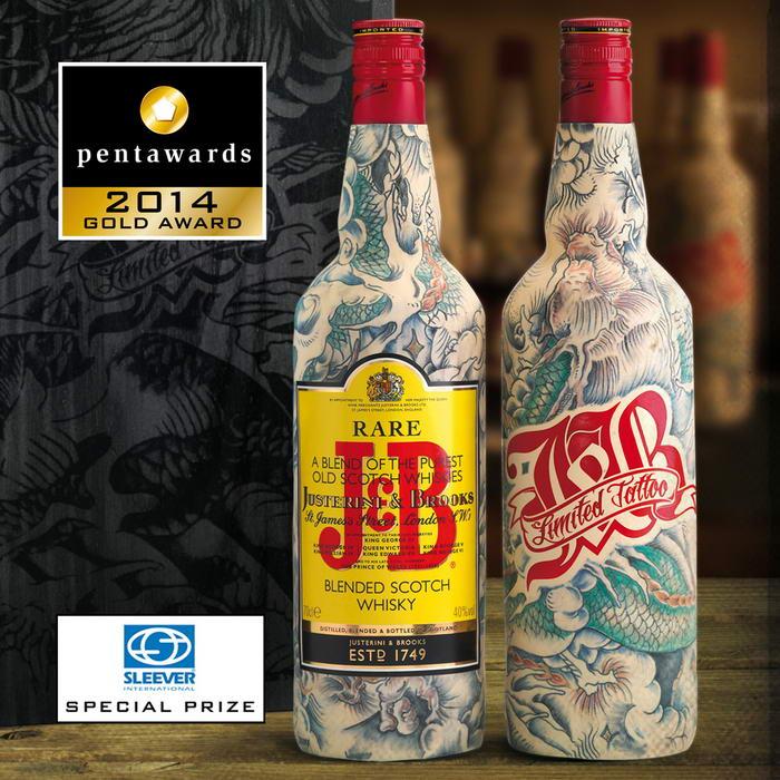 JB Real Tattooed Bottles
