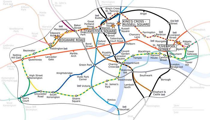 7 July London bombings locations
