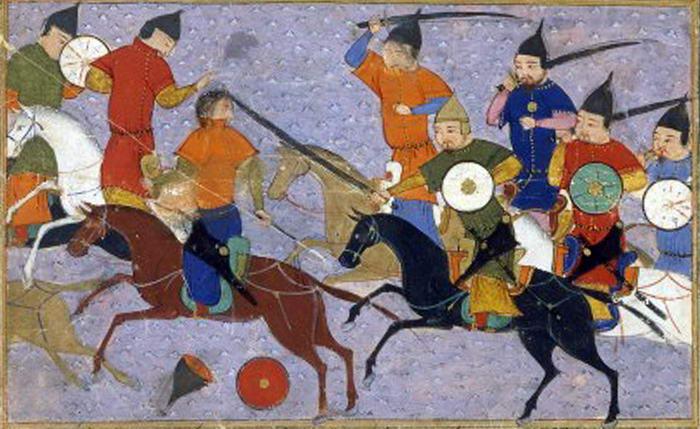 Bataille entre mongols