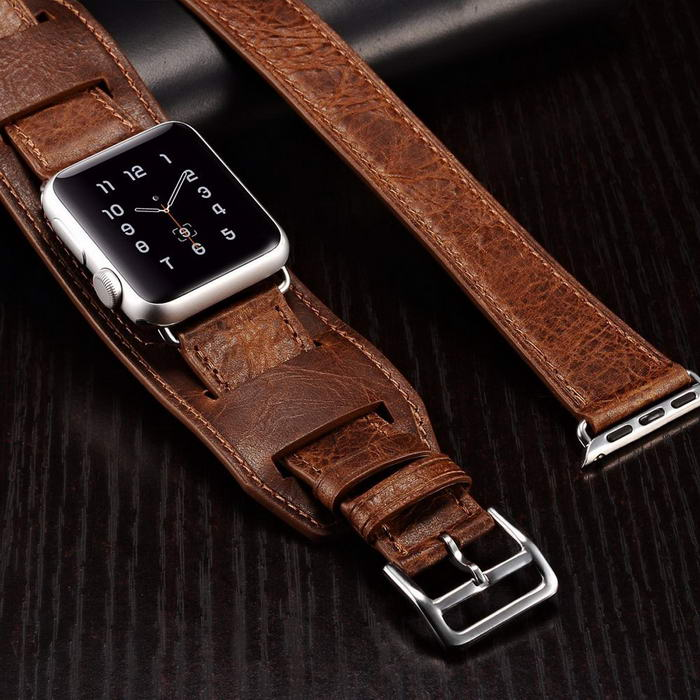 Bracelet Style Leather Band for Apple Watch