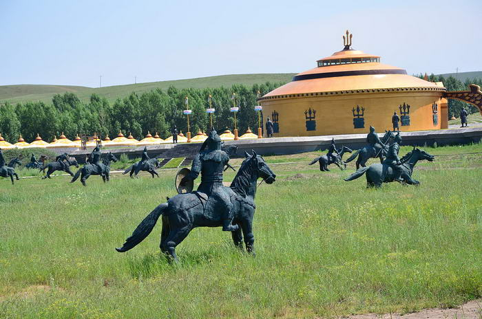 Genghis Khan temporary palace