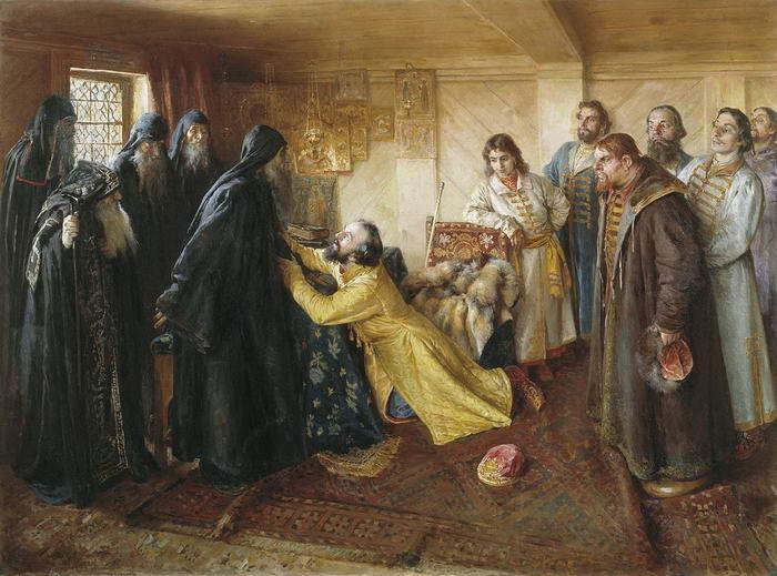 Ivan asks hiegumen Kornily