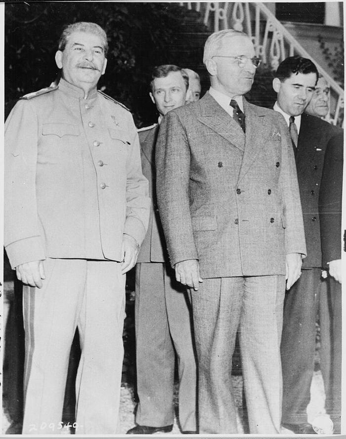 Josef Stalin with President Harry S Truman