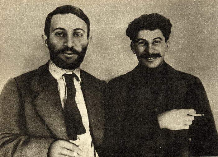 Joseph Stalin and Suren Spandarjan