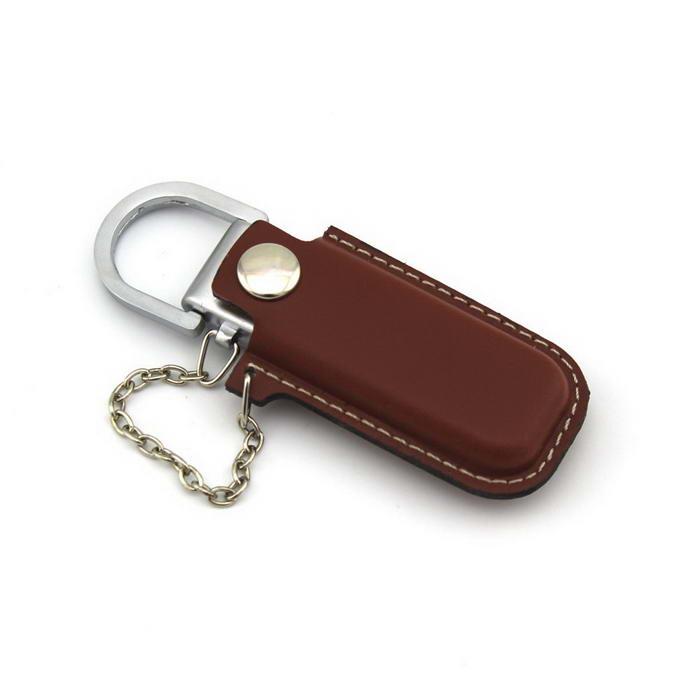 Keychain Brown Leather USB Flash Drive