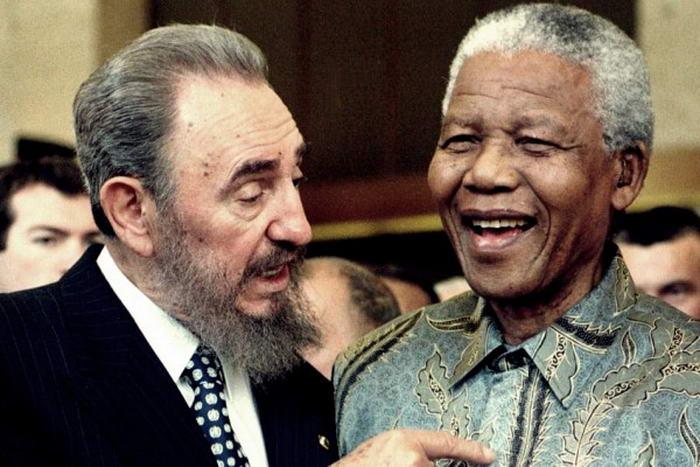 Mandela with Fidel Castro