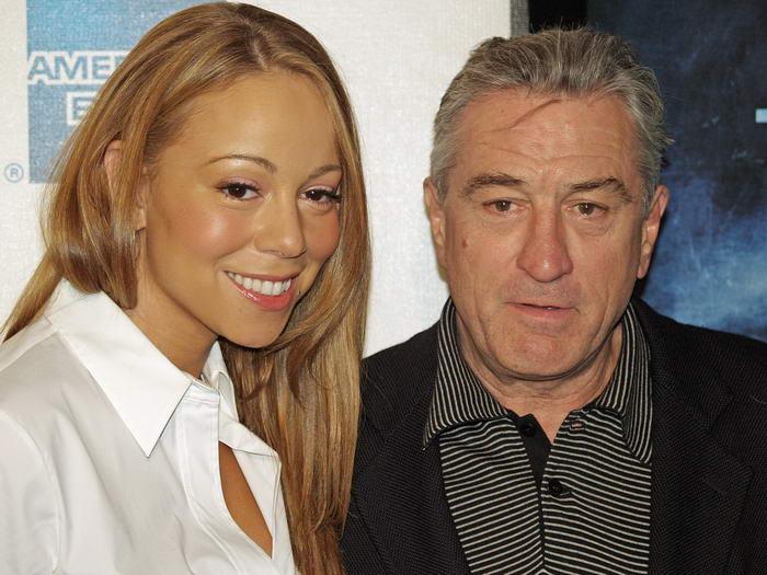 Mariah Carey and Robert De Niro