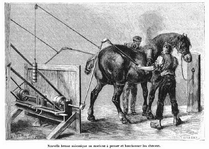 Mechanical Horse Brush