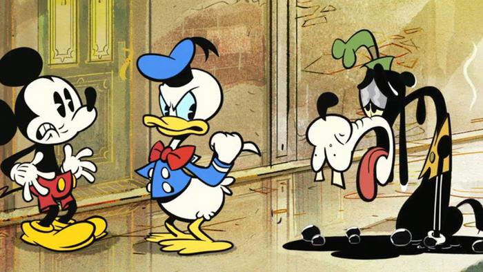 Mickey Donald and Goofy