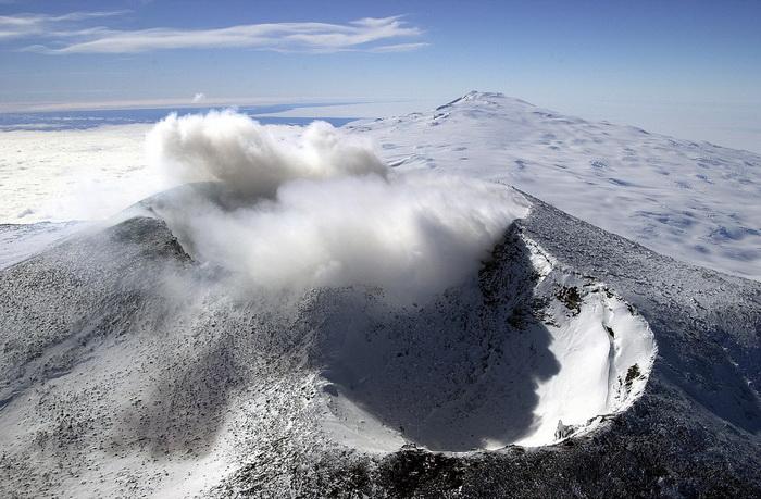Mount Erebus craters