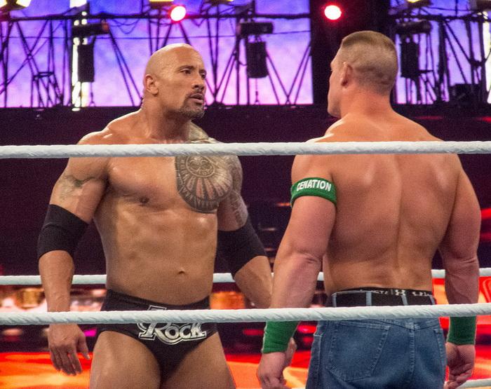 Rock vs John Cena
