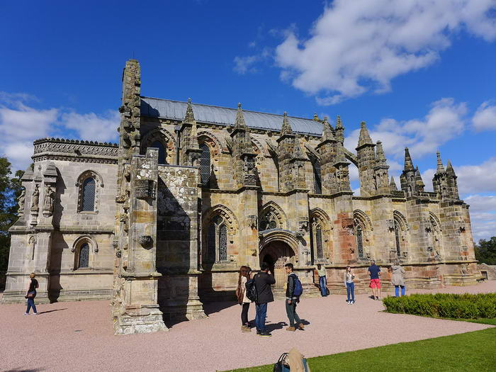 Roslyn Chapel in Scottland