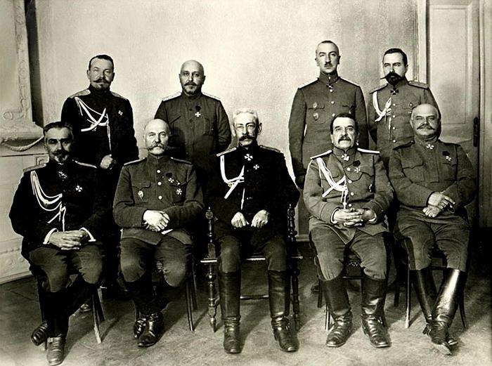 Russian generals WW1