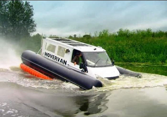 Test Driving the Hover Van